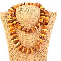 72d992689 Jantar z Litvy náhrdelník medové velké kousky delší