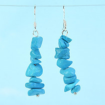 Earrings made of stone tyrkenit (dyed) Ag