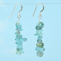 Earrings made of stone apatite Ag